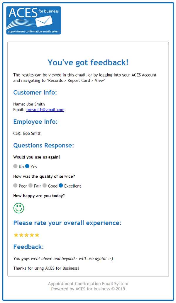 automated customer service email surveys
